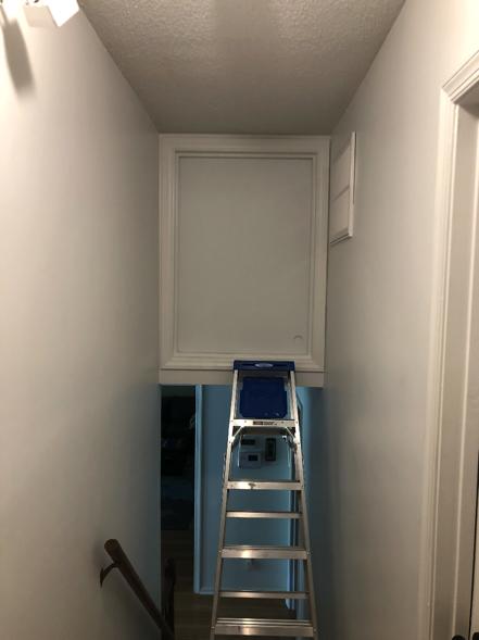 split level added attic stoarge