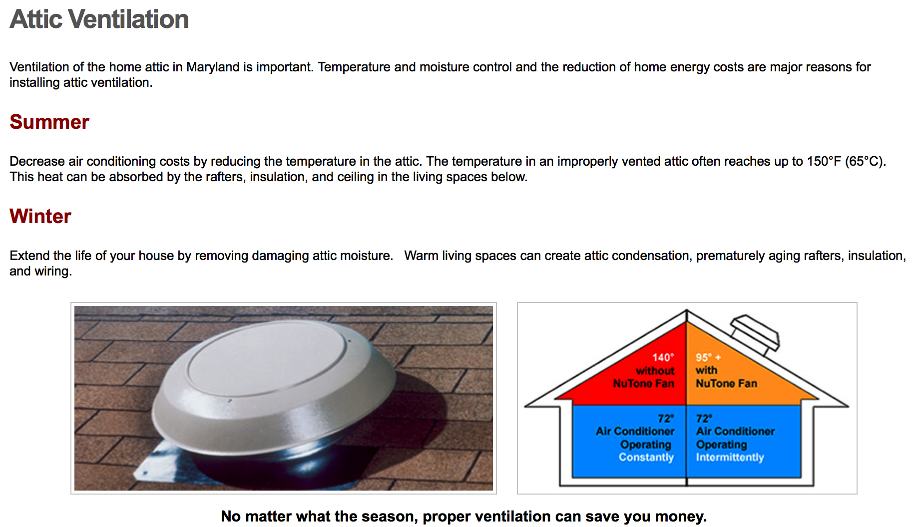 Attic Ventilation Stetten Home Services Wiring Through Nutone Screen Shot