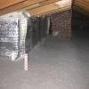 No exposed insulation or Joists