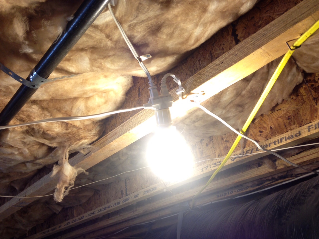 Crawlspace Lights TRIPLE WAY