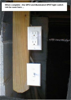 Vertically Oriented Switch and Outlet