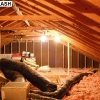 Attic with 4 100W eq CFLs