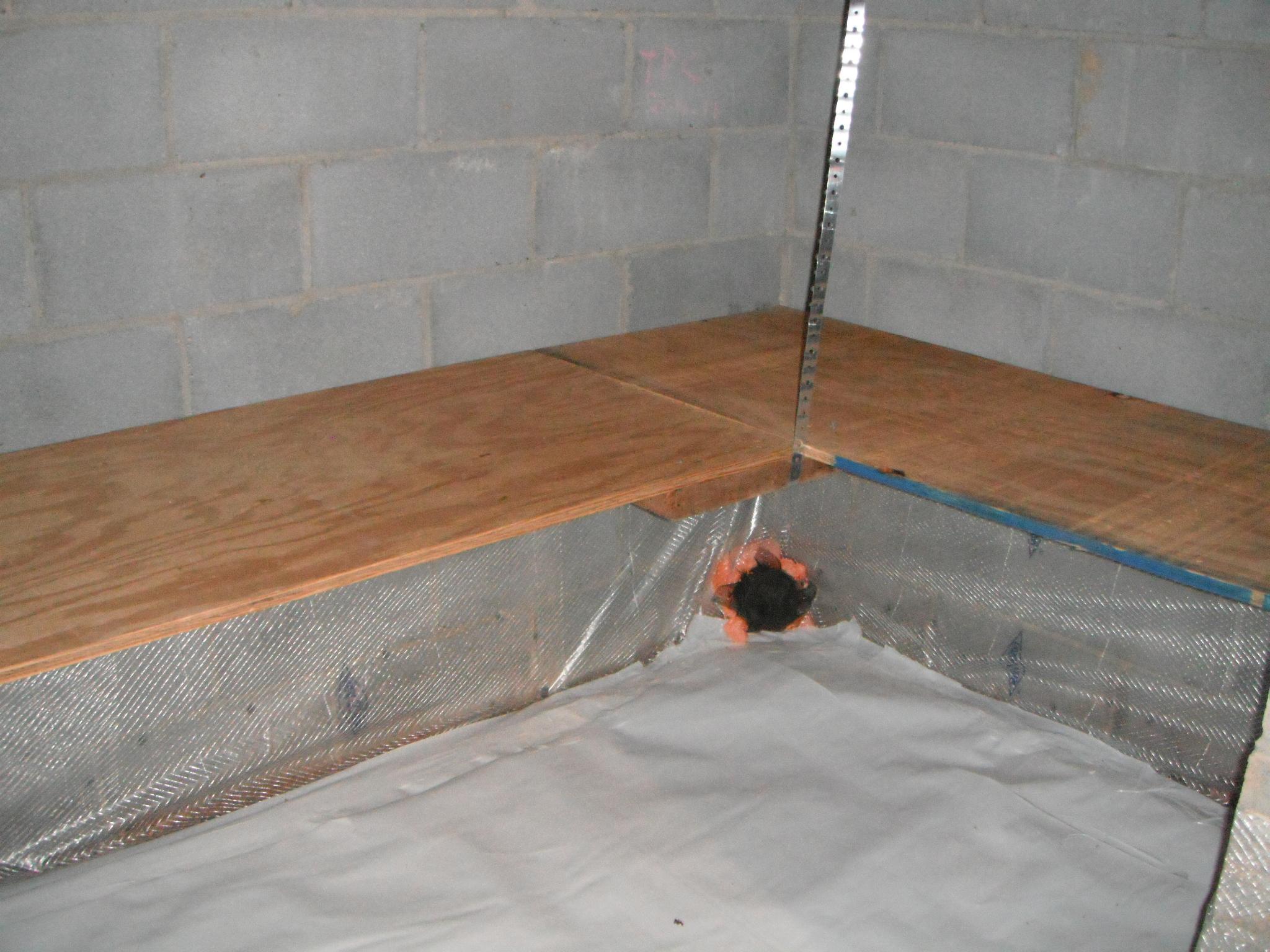 Custom Plywood Shelves