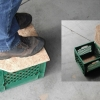 Milk Crate Storage Step Stool