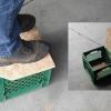 Milk Crate Storage Step Stool