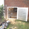 Crawlspace Honey Storage Shelving