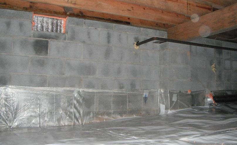 Sealed Crawlspace No Insulation Above Grade Stetten