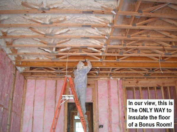 IN OUR OPINION - WEB TRUSS FLOORS SHOULD ONLY BE INSULATED WITH FOAM!